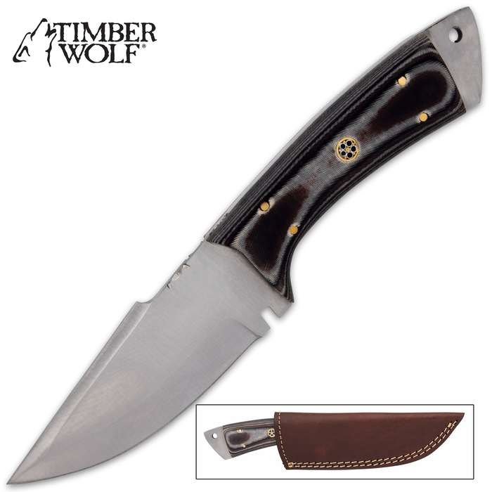The Timber Wolf Grindstone Knife is a great, all-purpose knife to have at your side when you're going about your outside chores