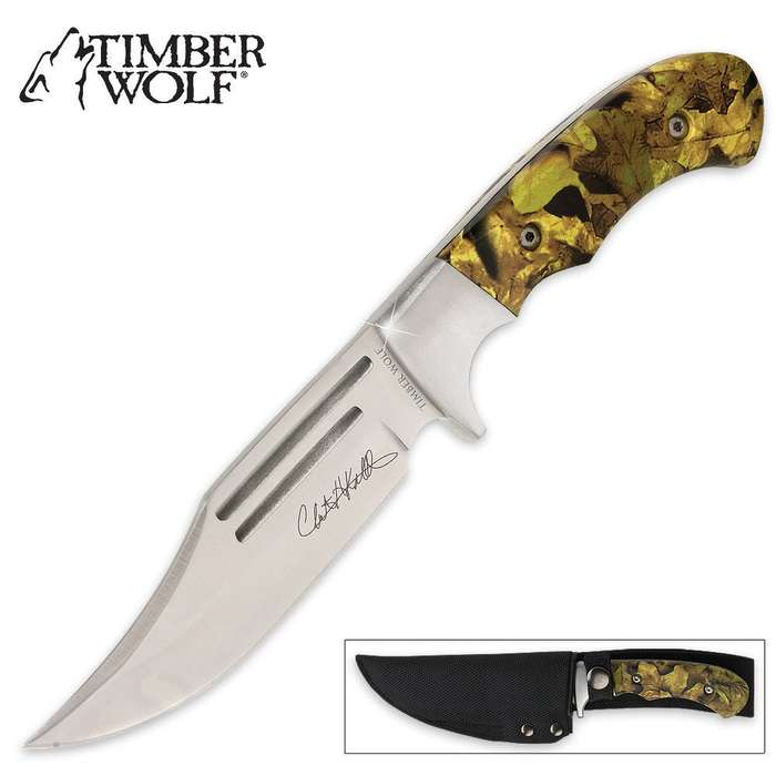 Timber Wolf Camo Master 20th Anniversary Edition Bowie Knife