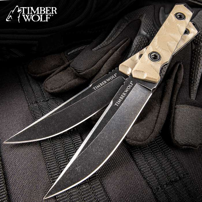 Timber Wolf Full Tang Atomic Steel Stonewash Small Drop Point