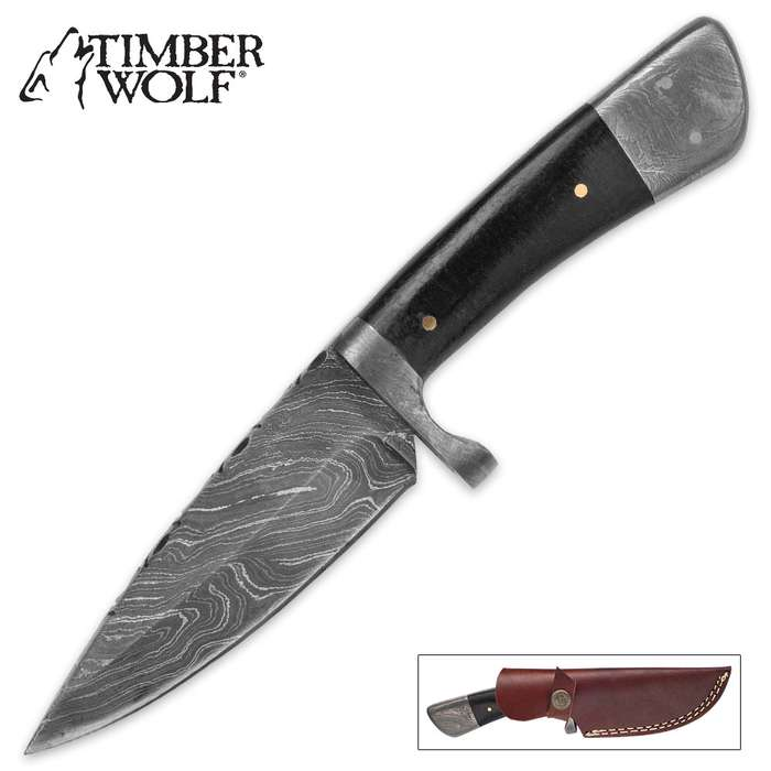 Timber Wolf Black Micarta Hunter Knife