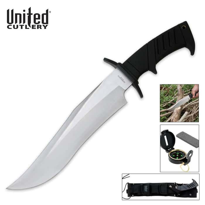 United Cutlery Serpentine Survival Bowie Knife & Sheath