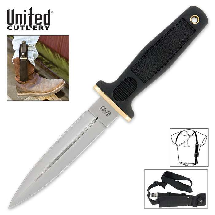 Quick Draw Boot Knife & Shoulder Harness