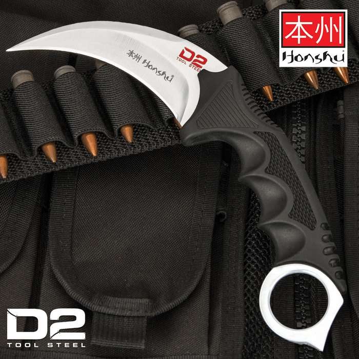 When you need an easily concealed, serious self-defense weapon, this karambit knife is exactly what you are looking for