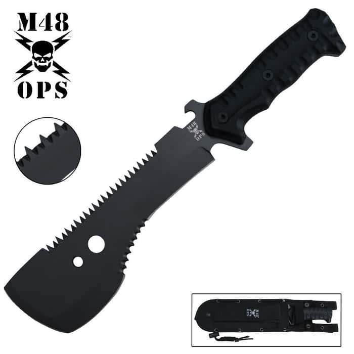 M48 Ops Tactical Sawback Smatchet Knife
