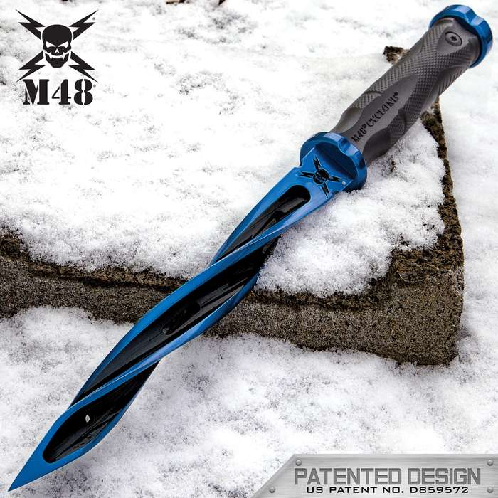 Special Limited Edition Tsunami Force Blue M48 Cyclone - Cast Stainless Steel Blade, Reinforced Nylon Handle, Stainless Steel Guard And Pommel
