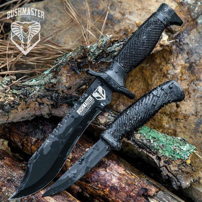 Bushmaster Tactical Commando Knife and Free Skinner Knife