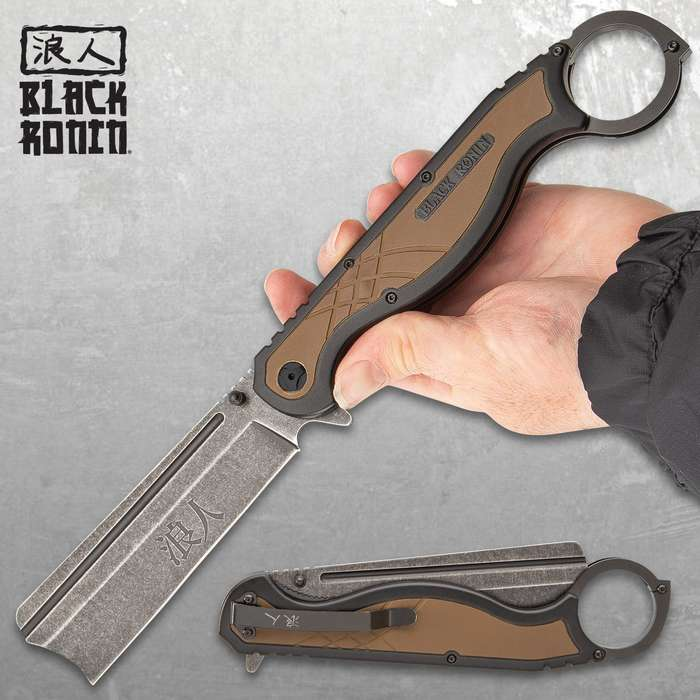 The Black Ronin Straight Razor Pocket Knife was built for a Samurai, making it a perfectly balanced tool for everyday carry!