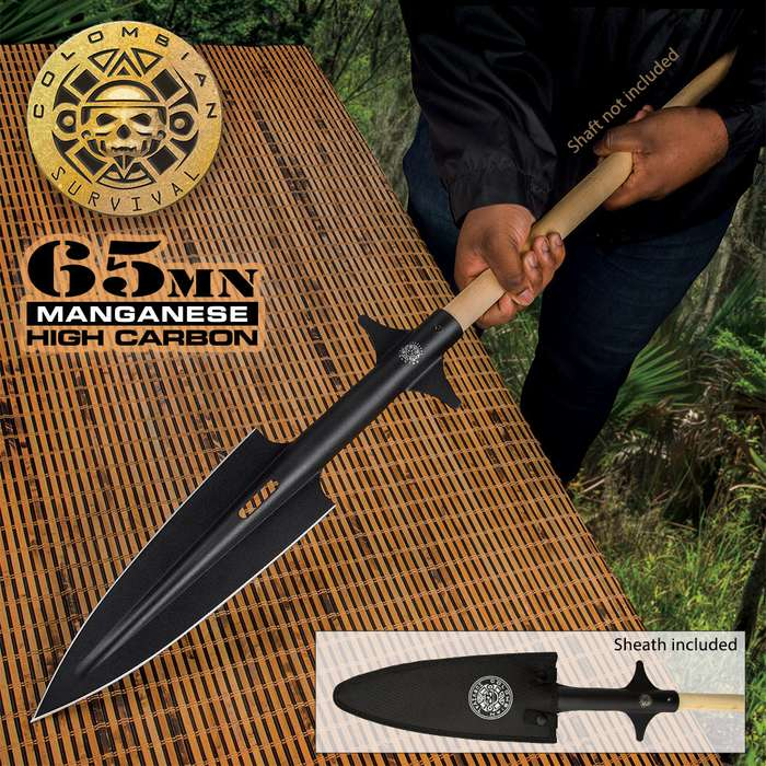 The Colombian Colossal Spearhead is impressive just on its own but once you mount it on a wooden shaft, you've got one formidable weapon