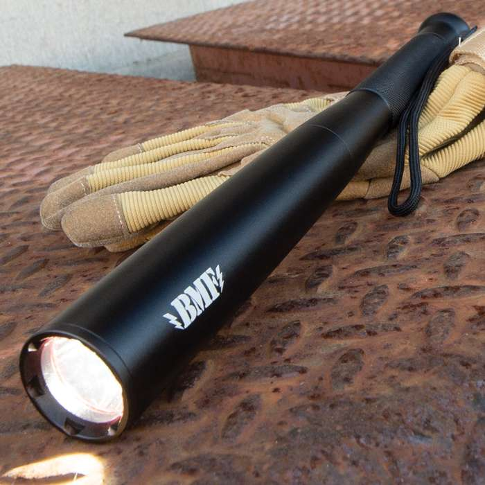 BMF Self-Defense Baseball Bat Flashlight - 400 Lumens, High-Powered LED, Water-Resistant, Aluminum Alloy Body - Length 12 1/5""