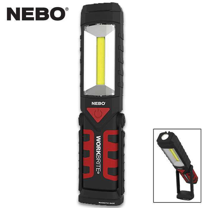 The Nebo WorkBrite Flashlight adapts fully to your work environment, making it the handiest and most versatile of work lights