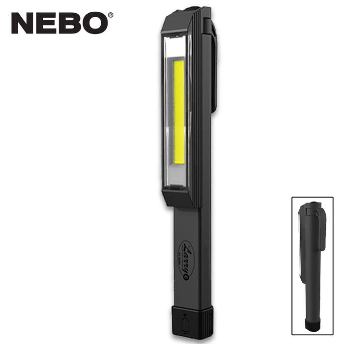 The Nebo Larry C is Grey Pocket Work Light is brighter than ever! Equipped with COB LED technology, it outputs 170 lumens of intense light
