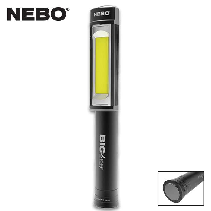 The Nebo Big Larry Black Work Light knows how to light up a room!
