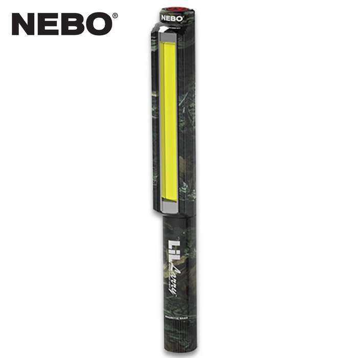 Don't let the name fool you, the Nebo LiL Larry Camo Work Light packs enough power to take its rightful place in the Nebo Larry Work Light family