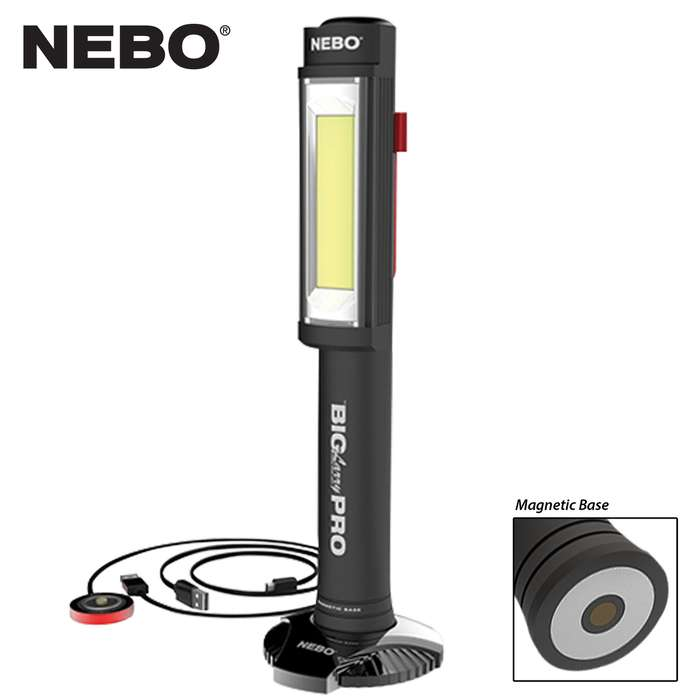 The brightest Larry yet! The Big Larry Pro features a high-power, 500 lumen COB work light and red hazard flasher