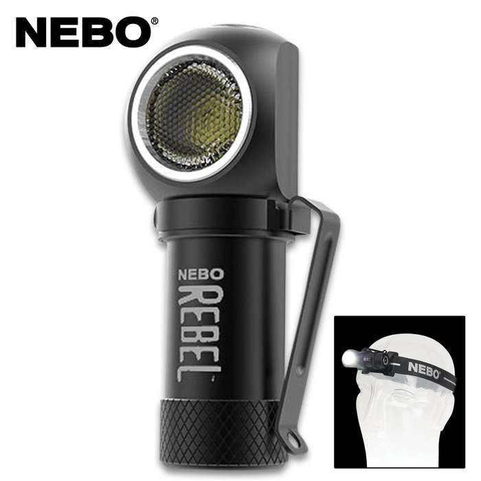 Small enough to fit in the palm of your hand, the Nebo Rebel is a powerful light that rebels against its size with its impressive 600-lumen output