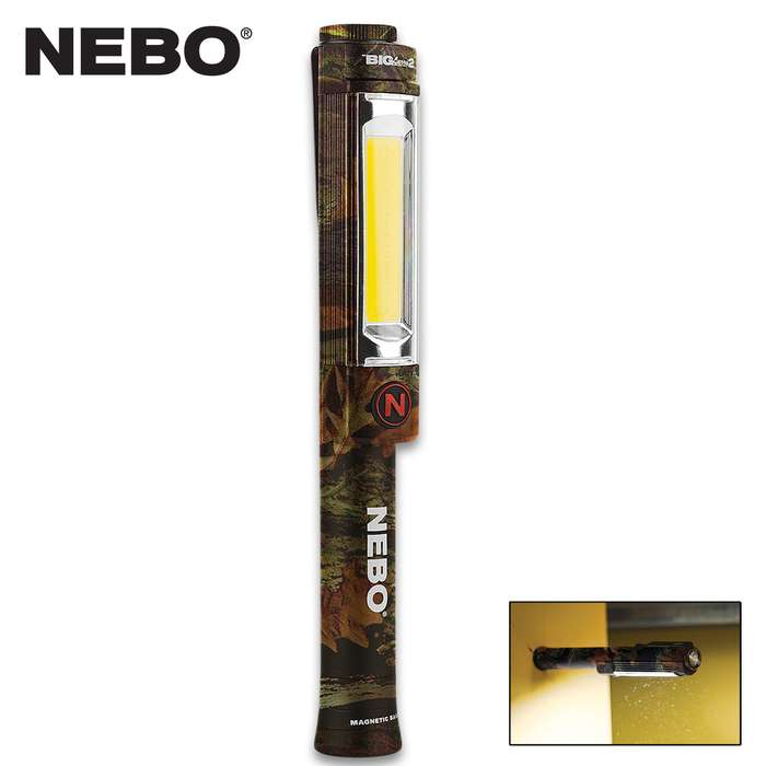 The NEBO Big Larry 2 Camo Flashlight combines a powerful COB work light with powerful LED flashlight, giving you a very versatile lighting tool
