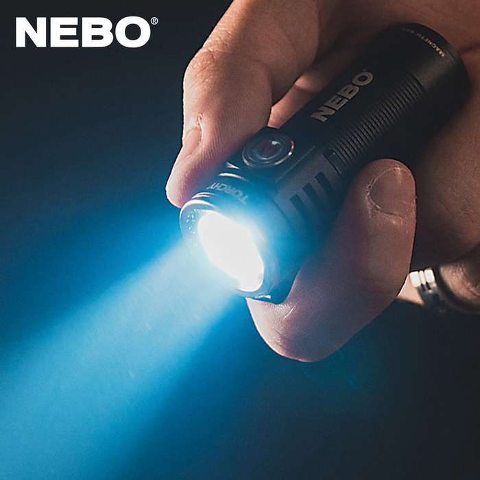 Nebo Torchy Rechargeable Flashlight - 1,000 Lumens, Four Light Modes Plus Turbo, Anodized Aluminum Construction, Magnetic Base