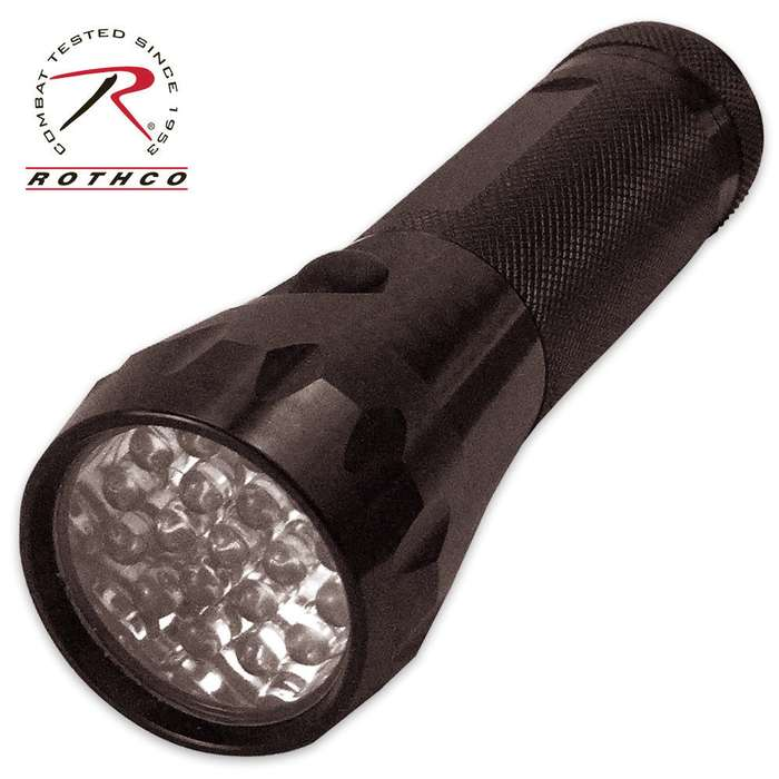 19 LED Flashlight Black