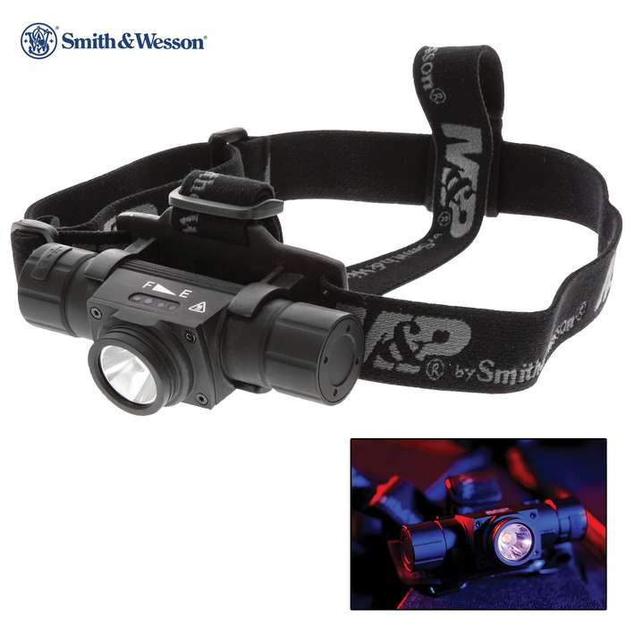 Blast the dark away with the Smith & Wesson Night Terror Rechargeable Headlamp and focus light where you need it