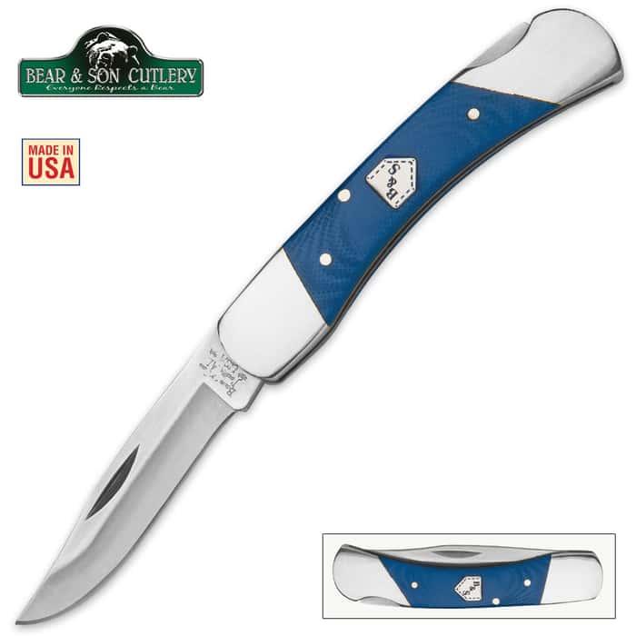 Bear Blue Jean Series Midsize Lockback Pocket Knife