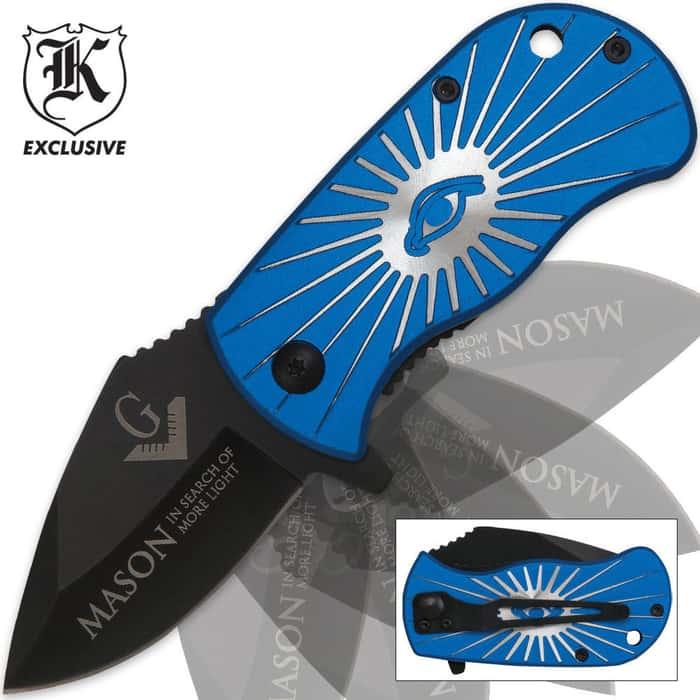Masonic Assisted Opening Pocket Knife