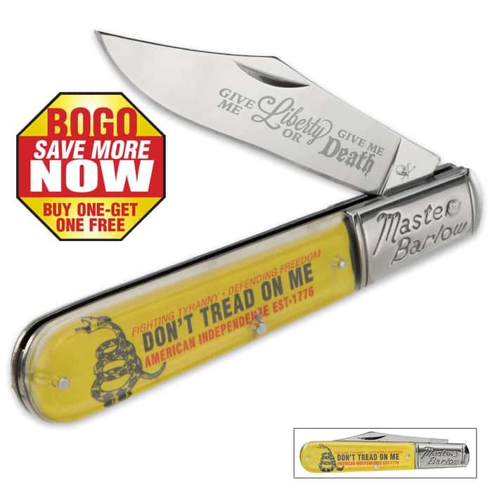 Don't Tread On Me Master Barlow Knife BOGO