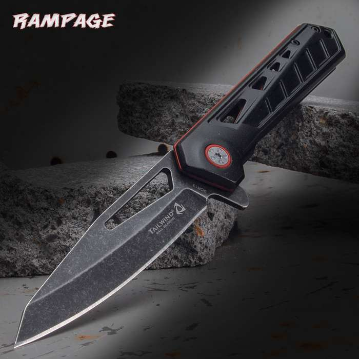 The Rampage Tailwind Technic Ball Bearing Pocket Knife has such a sleek design that it feels like an extension of your hand when you are using it