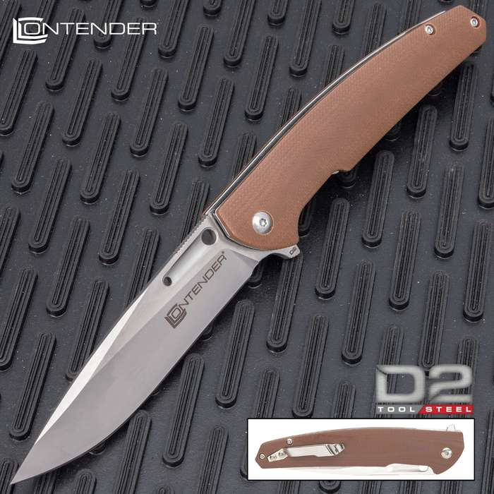 The Contender Scout Pocket Knife, with its state-of-the-art materials and innovative design, is a fantastic everyday carry knife for a variety of tasks