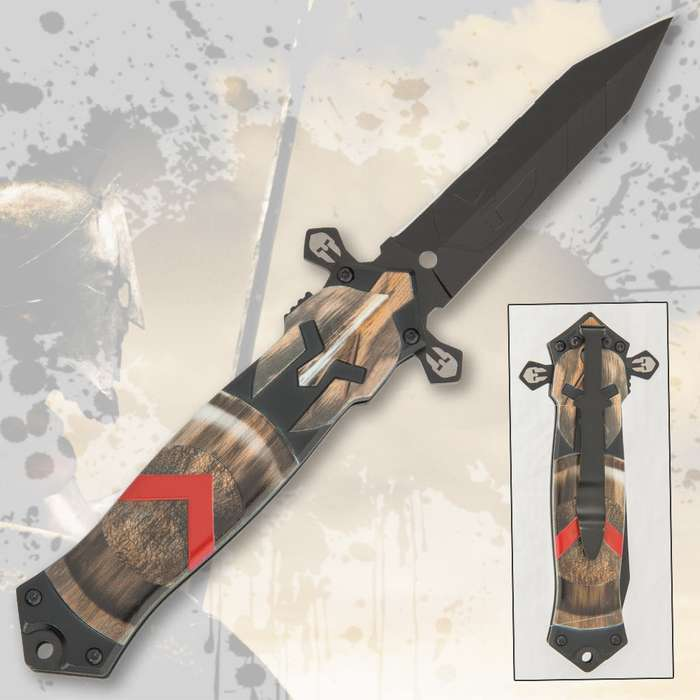 The Spartan Warrior Pocket Knife is capable and up to any cutting task that comes across your battlefield