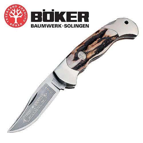 Boker Tree Brand Stag Lockback Folding Knife