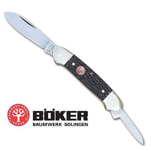 Boker Black Delrin Canoe Folding Knife