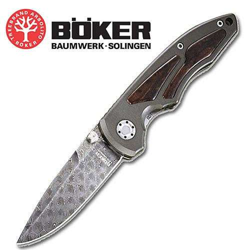 Boker LEO Damascus Folding Knife