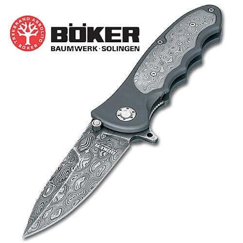 Boker Leo Damascus III Collector Folding Knife