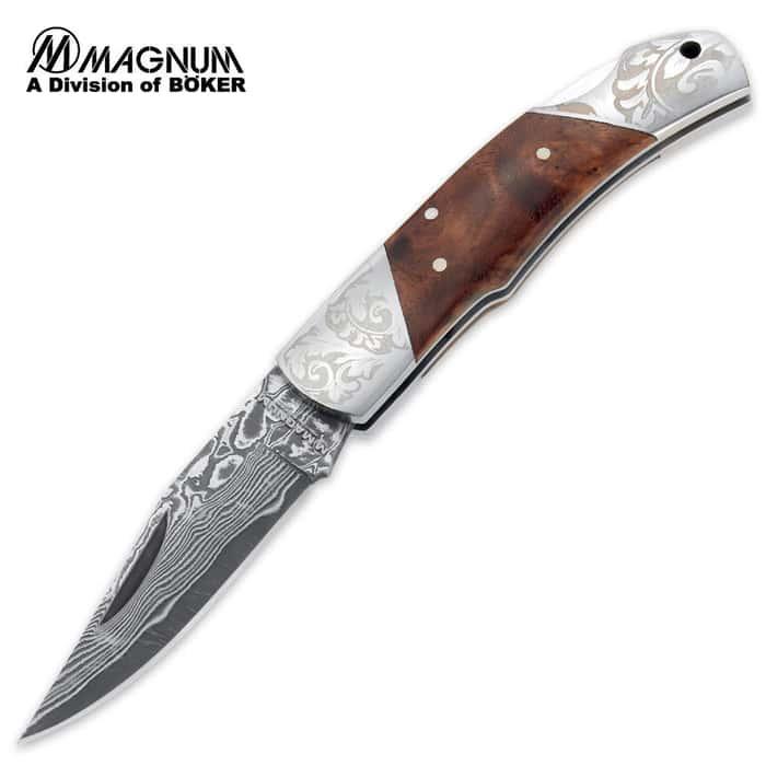 Boker Magnum Duke Folding Knife Damascus