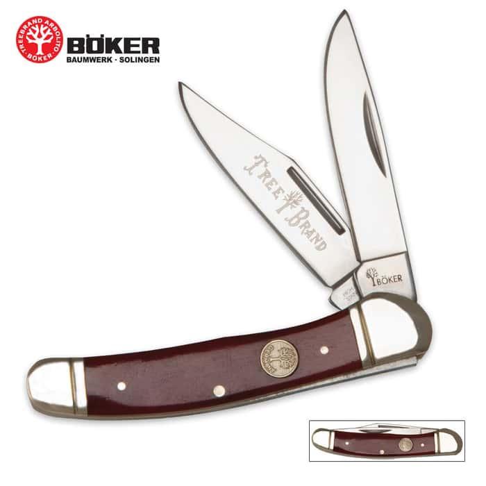 Boker Tree Brand Red Bone Copperhead Pocket Knife