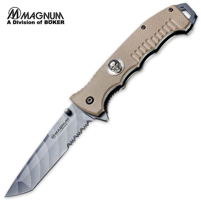 Boker Magnum Shades of Gray Tanto Point Folding Pocket Knife