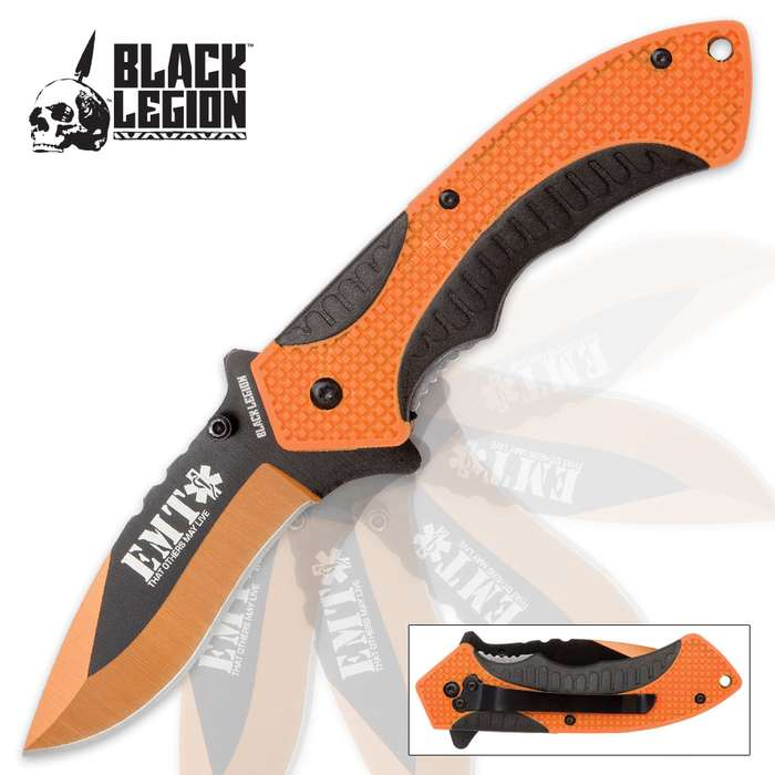 Black Legion EMT Rescue Pocket Knife