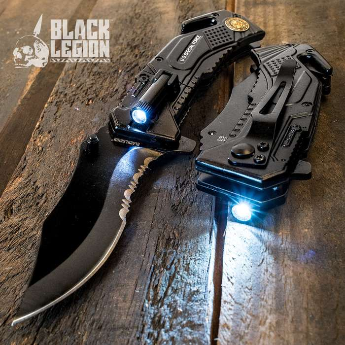 Special Force Pocket Knife With LED Flashlight