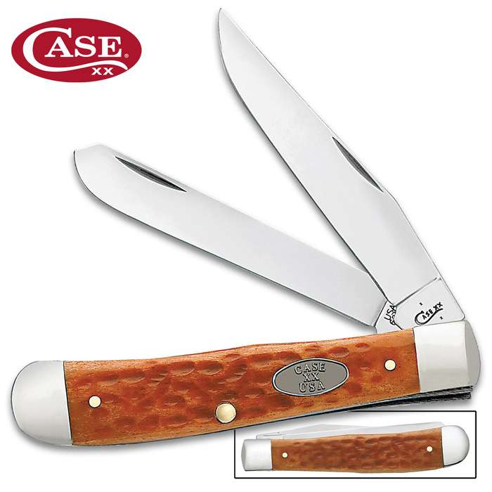 Case Pocket Worn Whiskey Bone Trapper