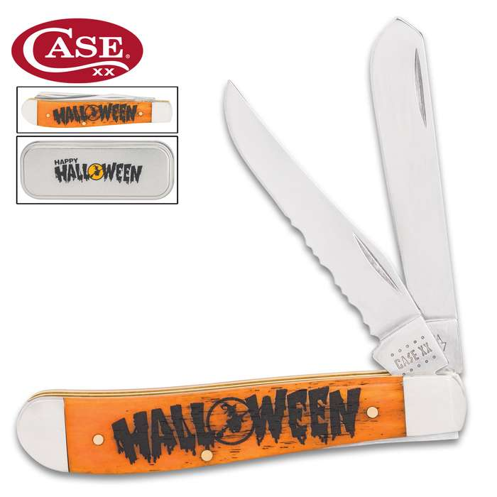 The Halloween Mini Trapper Pocket Knife is a great collectible from Case's holiday line and makes a fun 2020 memorabilia item