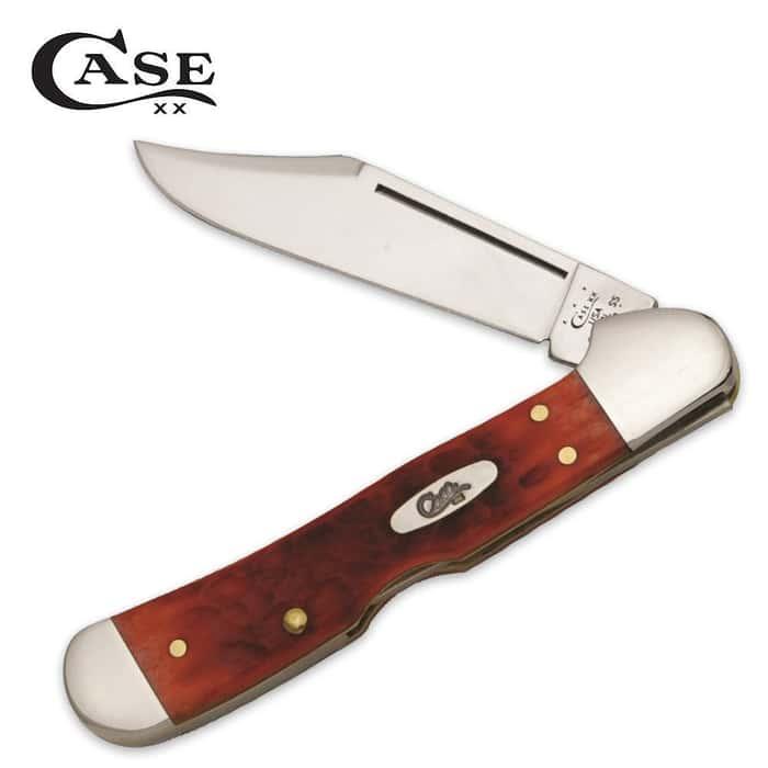 Case Red Bone Chrome Vanadium Mini Copperlock Folding Pocket Knife