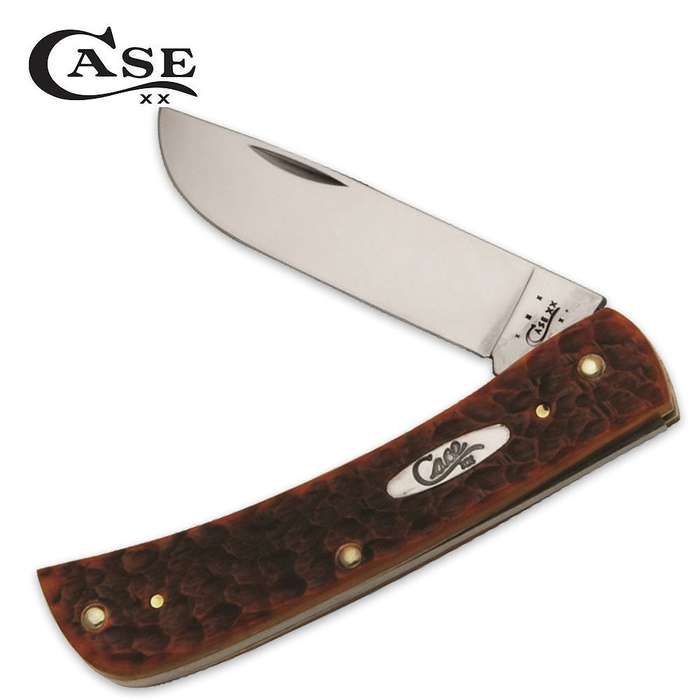Case Chestnut Bone Chrome Vanadium Sod Buster Jr. Folding Pocket Knife