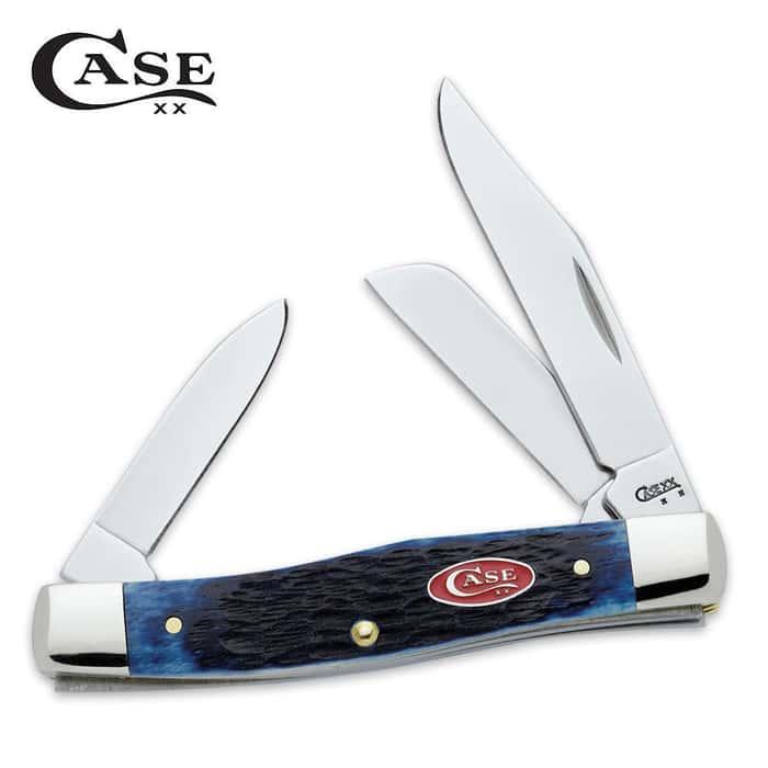 Case Navy Blue Medium Stockman Pocket Knife