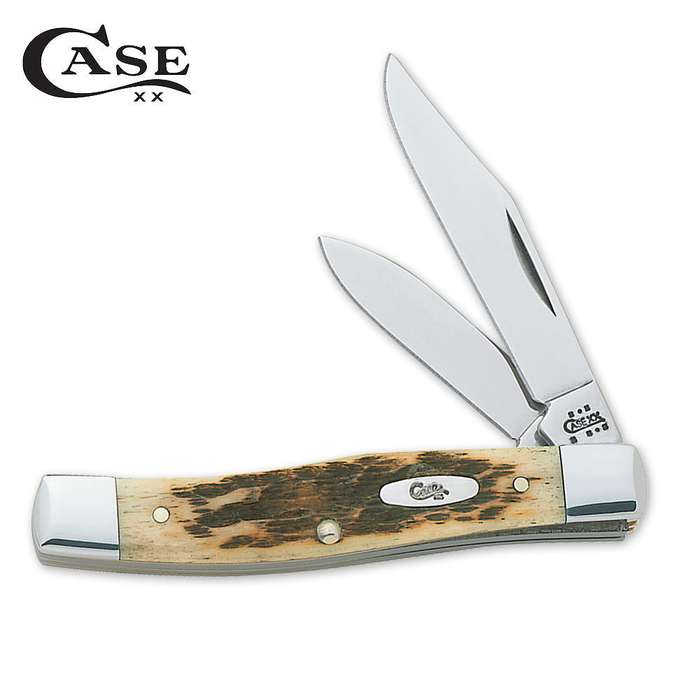 Case CV Amber Bone Small Texas Jack Folding Knife