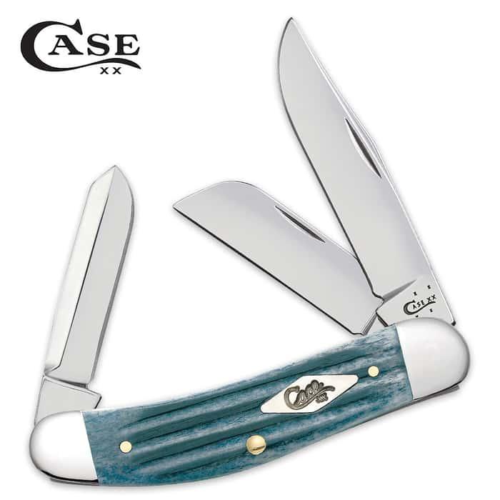 Case Second Cut Gray Bone Sowbelly Pocket Knife