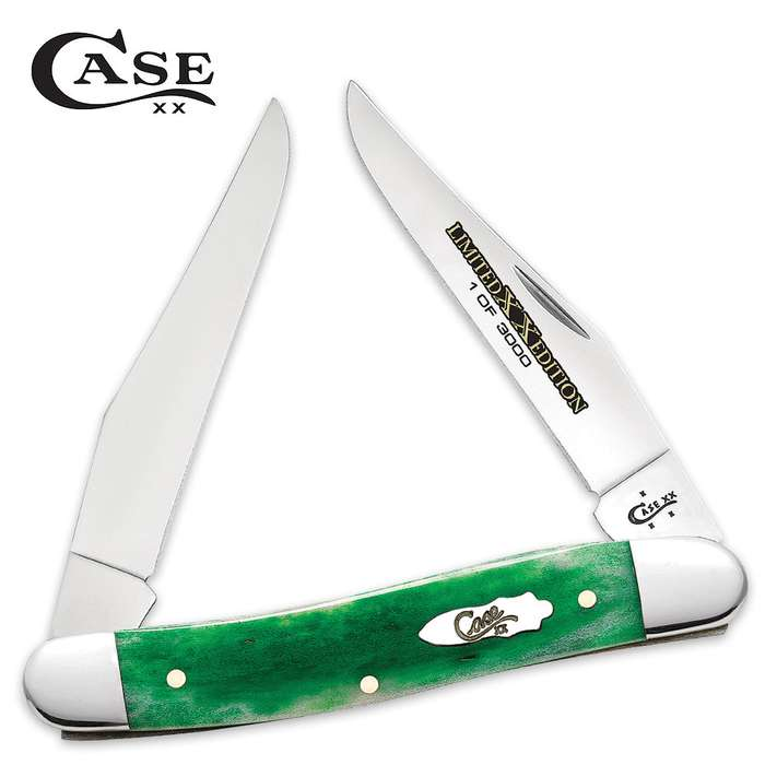 Case Limited Edition Bright Green Bone Muskrat Pocket Knife