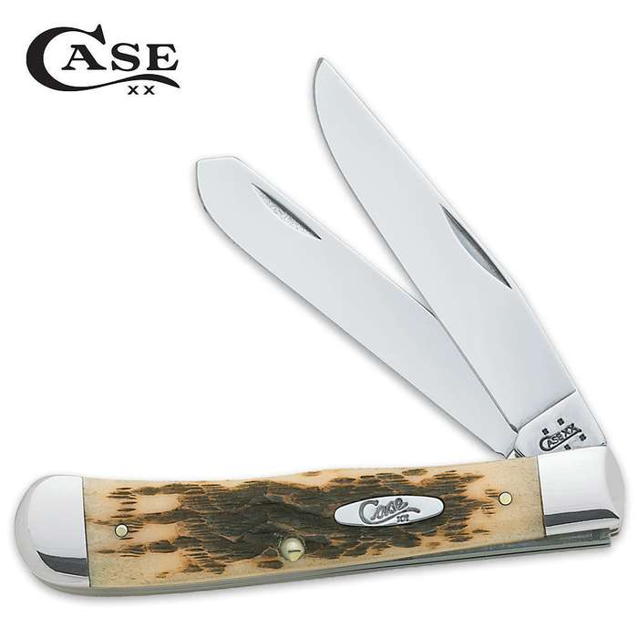 Case CV Amber Bone Trapper Pocket Knife
