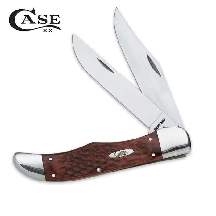 Case Brown Jigged Hunter Folding Knife