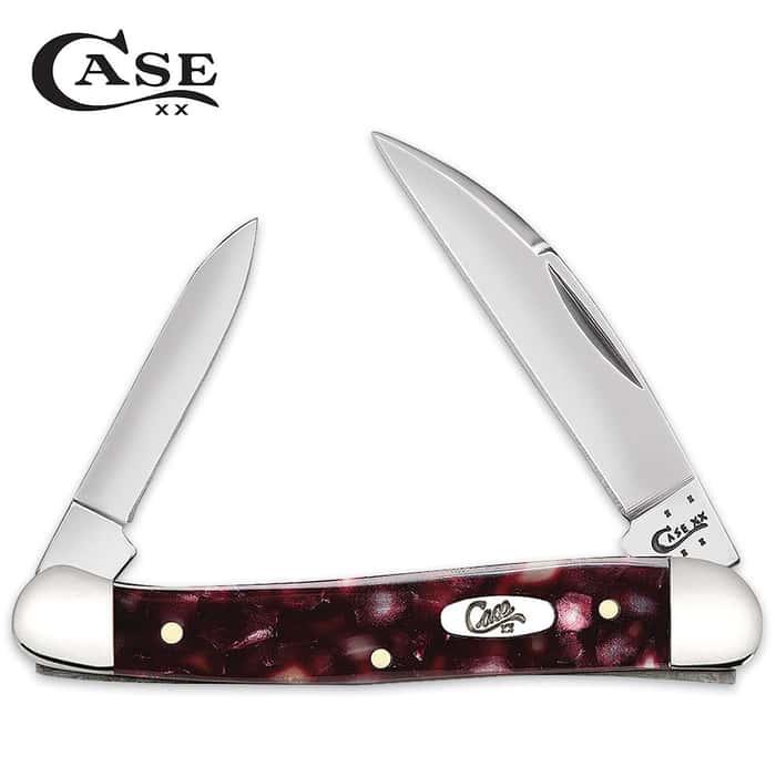 Case Smooth Cranberry Kirinite Mini Copperhead Pocket Knife