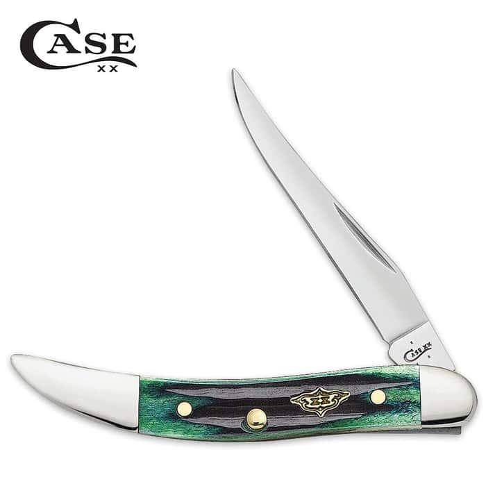 Case Hunter Green Bone Toothpick Pocket Knife